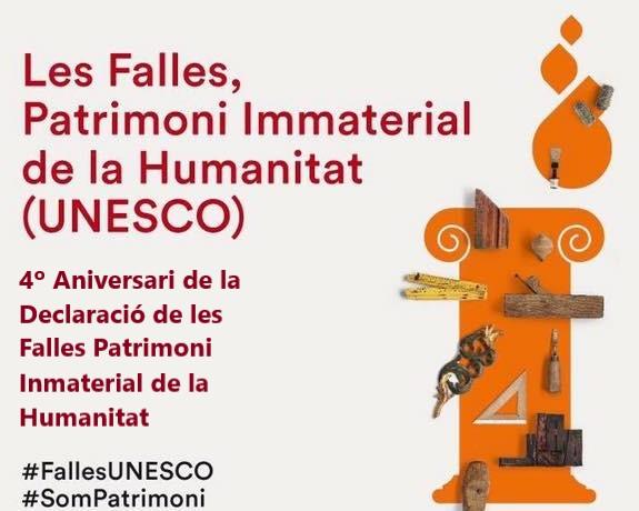 Cuarto aniversario de las Fallas como Patrimonio de la Humanidad por la UNESCO