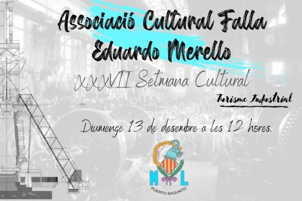 Cartel de la 37ª Semana Cultural de la Falla Eduardo Merello (Sagunt)