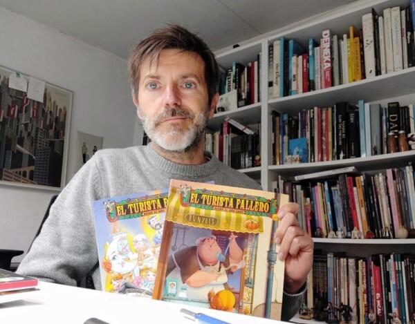 Paco Roca, autor de la portada de 'El Turista Fallero' de 2021 (foto: Facebook del TF)