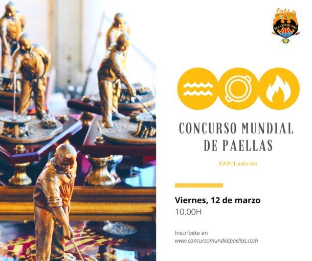 Cartel del Concurso Mundial de Paellas de la Falla J.J. Dómine-Port, 2020