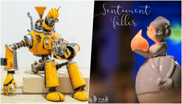 Reproducción del robot de L'Antiga de Campanar y ninot de Sentiment Faller