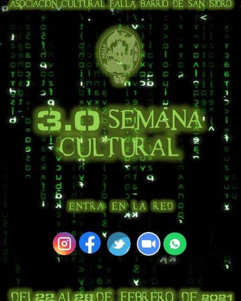 Cartel de la semana cultural 3.0 de la Falla San Isidro
