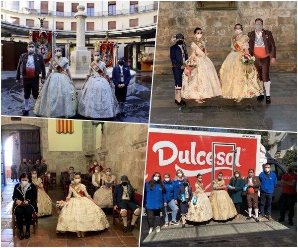 Actividad de representantes de la Falla Plaza Lope de Vega (València)