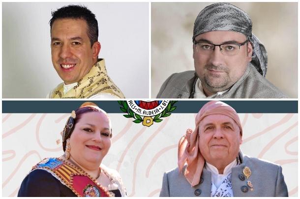Presidentes de El Clero, Tomasos-Carlos Cervera y Maestro Valls, en este orden