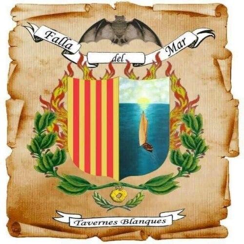 Escudo de la Falla del Mar (Tavernes Blanques)