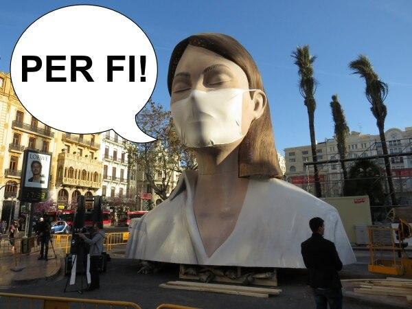 La falla municipal de València de 2020, contenta